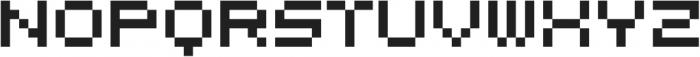 MultiType Pixel Display otf (400) Font LOWERCASE