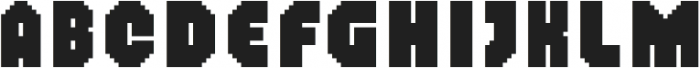 MultiType Pixel Narrow Bold otf (700) Font UPPERCASE