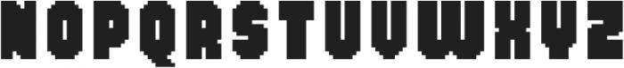 MultiType Pixel Narrow Bold otf (700) Font LOWERCASE