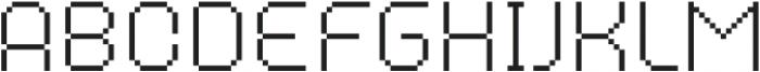 MultiType Pixel Narrow Thin SC otf (100) Font LOWERCASE