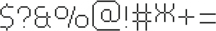 MultiType Pixel Narrow Thin otf (100) Font OTHER CHARS