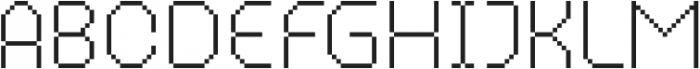 MultiType Pixel Narrow Thin otf (100) Font UPPERCASE