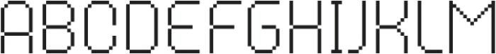 MultiType Pixel Narrow Thin otf (100) Font LOWERCASE