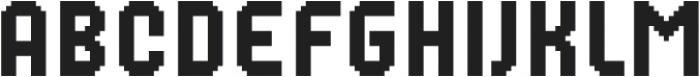 MultiType Pixel Narrow otf (400) Font LOWERCASE