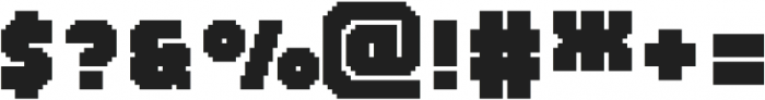 MultiType Pixel Regular Bold otf (700) Font OTHER CHARS