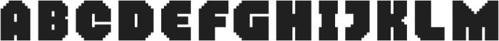 MultiType Pixel Regular Bold otf (700) Font UPPERCASE