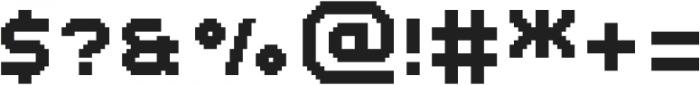 MultiType Pixel Regular SC otf (400) Font OTHER CHARS