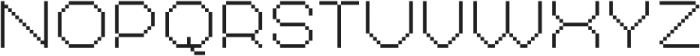 MultiType Pixel Regular Thin SC otf (100) Font UPPERCASE