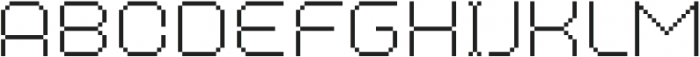 MultiType Pixel Regular Thin SC otf (100) Font LOWERCASE