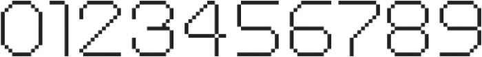 MultiType Pixel Regular Thin otf (100) Font OTHER CHARS