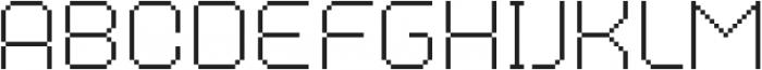 MultiType Pixel Regular Thin otf (100) Font LOWERCASE