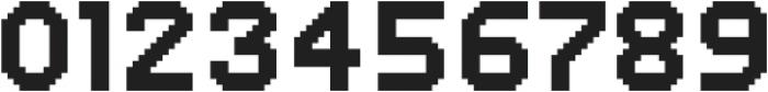 MultiType Pixel Regular otf (400) Font OTHER CHARS