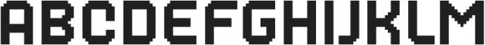 MultiType Pixel Regular otf (400) Font LOWERCASE
