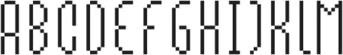 MultiType Pixel Slender otf (400) Font UPPERCASE