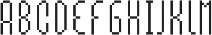 MultiType Pixel Slender otf (400) Font LOWERCASE