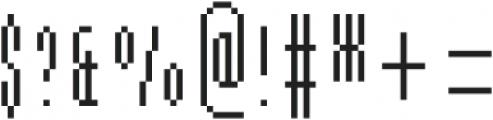 MultiType Pixel Slim SC otf (400) Font OTHER CHARS