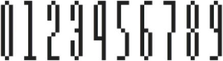 MultiType Pixel Slim otf (400) Font OTHER CHARS