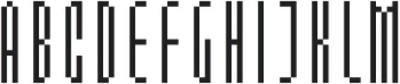 MultiType Pixel Slim otf (400) Font UPPERCASE