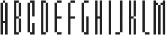 MultiType Pixel Slim otf (400) Font LOWERCASE