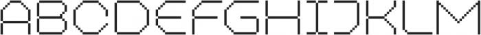 MultiType Pixel WIde Thin otf (100) Font UPPERCASE