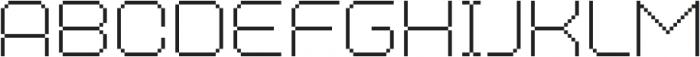 MultiType Pixel WIde Thin otf (100) Font LOWERCASE