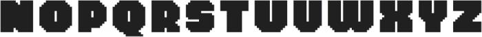 MultiType Pixel Wide Bold otf (700) Font UPPERCASE
