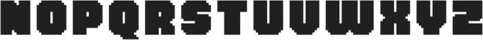MultiType Pixel Wide Bold otf (700) Font LOWERCASE