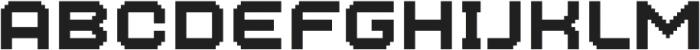 MultiType Pixel Wide SC otf (400) Font LOWERCASE