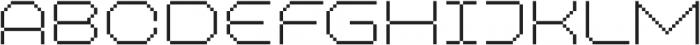 MultiType Pixel Wide Thin SC otf (100) Font UPPERCASE