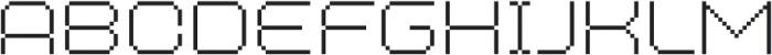 MultiType Pixel Wide Thin SC otf (100) Font LOWERCASE