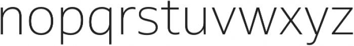 MultipleSans Alt II ExtraLight otf (200) Font LOWERCASE