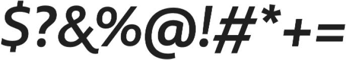 MultipleSans Alt II SemiBold It otf (600) Font OTHER CHARS