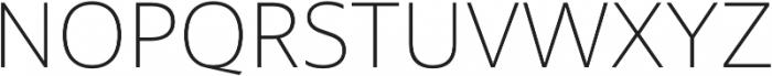 MultipleSans Pro ExtraLight otf (200) Font UPPERCASE