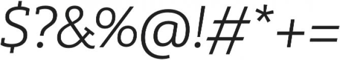 MultipleSlab Pro Light It otf (300) Font OTHER CHARS