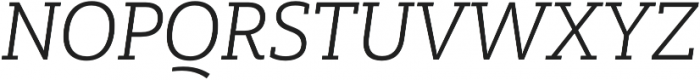 MultipleSlab Pro Light It otf (300) Font UPPERCASE