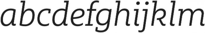 MultipleSlab Pro Light It otf (300) Font LOWERCASE