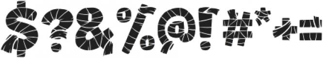 Mummified Fill otf (400) Font OTHER CHARS