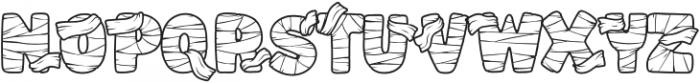 Mummified-Regular otf (400) Font UPPERCASE