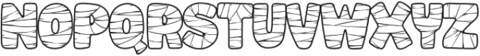 Mummified-Regular otf (400) Font LOWERCASE