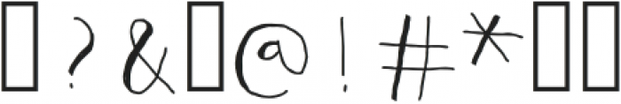 Mumus otf (400) Font OTHER CHARS