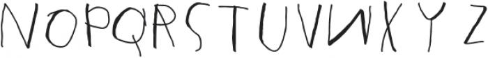 Mumus otf (400) Font UPPERCASE