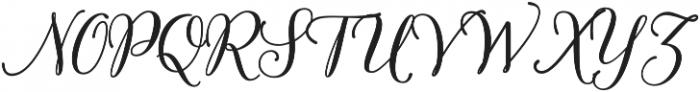 Munira Script Bold Regular otf (700) Font UPPERCASE