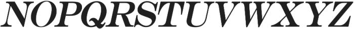 Muritania Italic otf (400) Font UPPERCASE