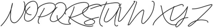 Murphy Script otf (400) Font UPPERCASE