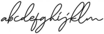 Murphy Script otf (400) Font LOWERCASE