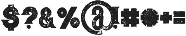 Murray bold grunge otf (700) Font OTHER CHARS
