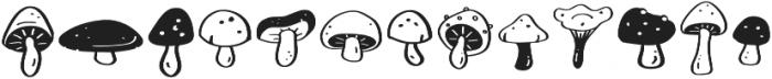 Mushroom Growing Symbol otf (400) Font LOWERCASE