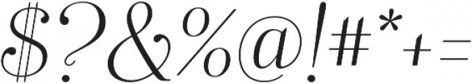 Mussica Italic OT otf (400) Font OTHER CHARS