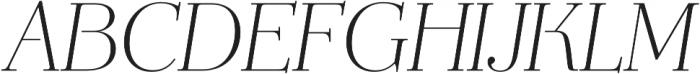 Mussica Italic OT otf (400) Font UPPERCASE