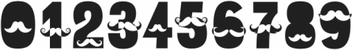 Mustache Regular otf (400) Font OTHER CHARS